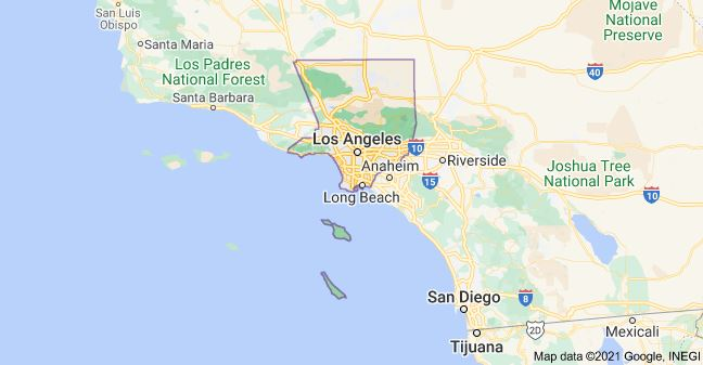 Map of Los Angeles County